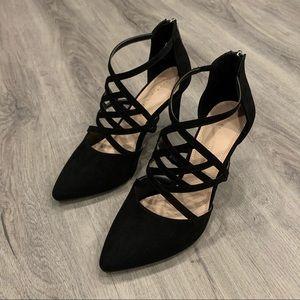 Kelly & Katie Casual Black Heels
